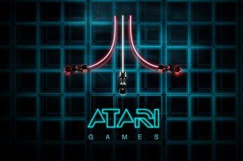 Black wallpaper, abstract, digital art, Tron: Legacy, Atari