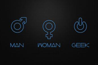 Life wallpaper, minimalism, geek, women, man