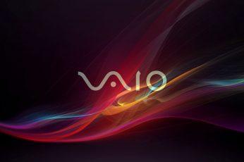 Sony Vaio logo wallpaper, colorful, shapes, digital art, abstract, motion