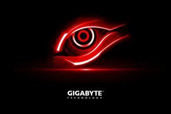 Gigabyte Red Eye wallpaper, Gigabyte Technology wallpaper, Computers, Hardware