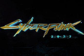 Cyberpunk 2077 wallpaper, typography, video games, neon, illuminated