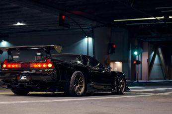 Honda wallpaper, Honda NSX, Japanese cars, JDM, black cars, sports car