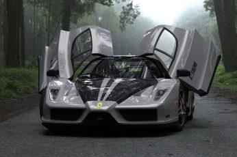 Gray and black sports car wallpaper, Ferrari, supercars, Enzo Ferrari, vehicle