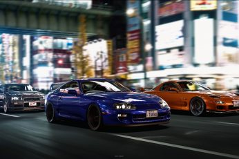 Nissan wallpaper, Mazda, car, vehicle, Nissan Skyline, Toyota Supra, mode of transportation