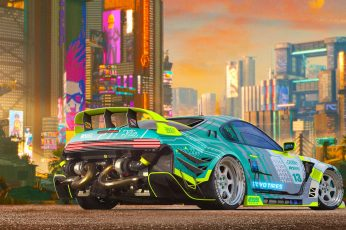 Car wallpaper, vehicle, colorful, Toyota, Toyota Supra, Cyberpunk 2077 wallpaper