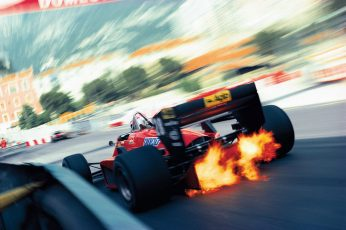 Red F1 race car wallpaper, racing, Ferrari, Monaco, long exposure, motorsports