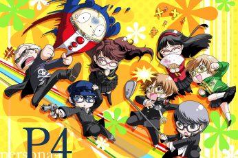 Persona 4 wallpaper, chibi, Persona series, real people, representation