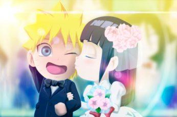 Anime Naruto Chibi wallpaper, Hinata Hyūga, Naruto Uzumaki, Wedding
