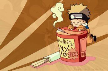 Naruto Shippuuden wallpaper, ramen, Uzumaki Naruto, chibi, representation