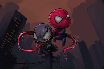 Spider-Man Chibi wallpaper, Marvel Comics, Venom