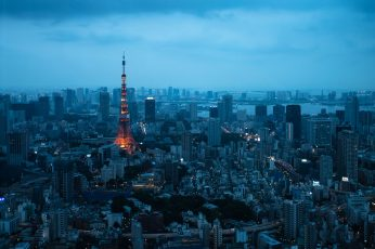 Aerial photography of Eiffel Tower wallpaper, tokyo tower, tokyo tower