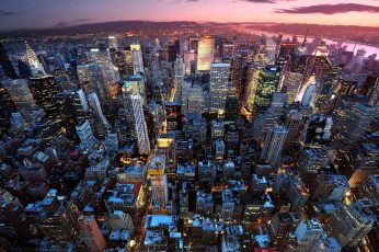 City wallpaper, manhattan, cityscape, urban, skyline, architecture, building
