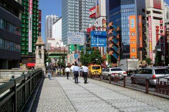 Manseibashi Bridge in Akihabara, Tokyo, Japan, buildings, city