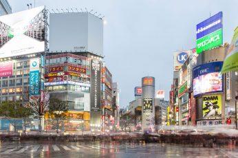 Japan wallpaper, shibuya-ku, shibuya station, cityscape, tokyo, buildings