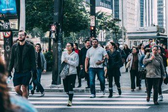 People Walking on Pedestrian Lane during Daytime, city, community wallpaper