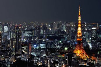 Tokyo Tower wallpaper, Japan, photography, cityscape, urban, building, night