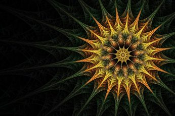 Fractal art wallpaper, symmetry, close up, macro photography, pattern