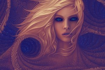 Psychedelic wallpaper, abstract, women, fractal, beauty, portrait, beautiful woman