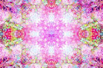Psychedelic wallpaper, digital art, fractal, multi colored, backgrounds
