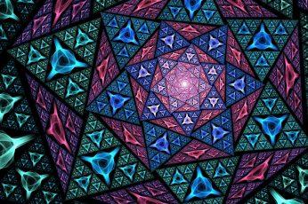 Purple wallpaper, psychedelic art, pattern, mosaic, design, fractal art