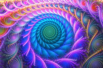 Psychedelic wallpaper, colorful, abstract, fractal