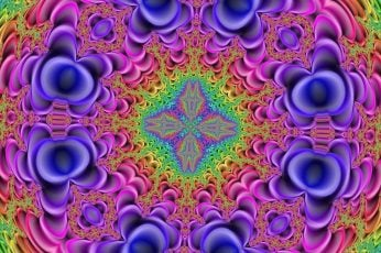 Multicolored optical wallpaper illusion, kaleidoscope, fractal, psychedelic