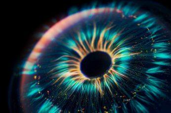 Eye wallpaper, digital art, fractal art, artwork, iris, circle