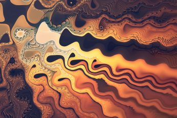 Multicolored abstract digital wallpaper, fractal, waves, artwork