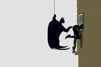 Batman minimalistic funny catwoman wallpaper