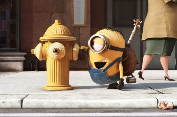 Minions wallpaper, funny, Best Animation Movies of 2015, yellow, cartoon