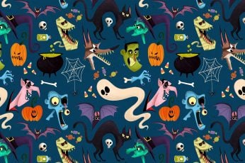 Pattern halloween wallpaper, funny, ghost, graphics