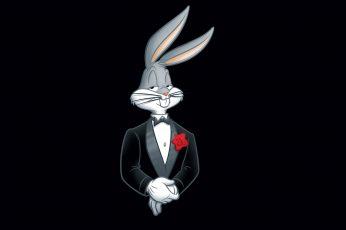 Looney Tunes Bugs Bunny wallpaper, flower, minimalism, rabbit