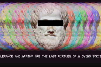 Fashwave wallpaper, glitch art, vaporwave, statue, Europe, colorful