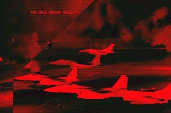 Fashwave wallpaper, glitch art, vaporwave, jet fighter, red