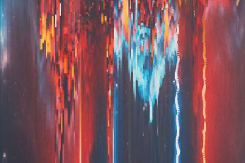 Abstract painting wallpaper, glitch art, pixels, water, multi colored, no people