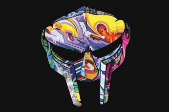 MF DOOM wallpaper, music, hip hop, mask
