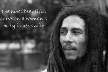 Bob Marley wallpaper with text overlay, quote, monochrome, dreadlocks, musician