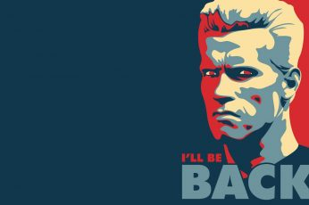 Terminator quote wallpaper, i'll be back illustration, quotes, 1920×1200