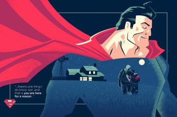 Superman digital wallpaper, DC Comics, quote, superhero, one person