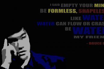 Bruce Lee quote wall decor wallpaper, simple, typography, communication
