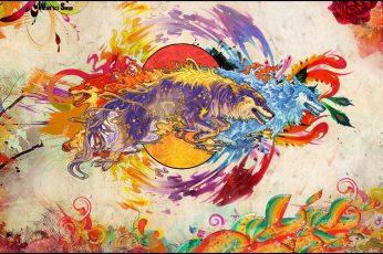 Snyp wallpaper, artwork, fantasy art, digital art, colorful, animals