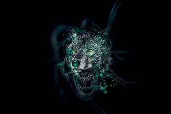 Wolf wallpaper, digital art