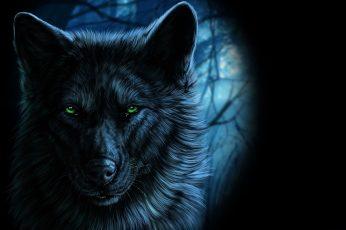 Animals wallpaper, fantasy art, wolf, artwork, one animal, animal themes