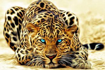 Art wallpaper, artistic, graphic, design, wild animal, blue eyes, animals