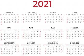 2021 calendar wallpaper