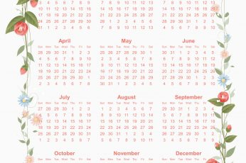 Calendar 2021 design vector free download