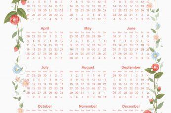 Calendar 2021 design vector free download