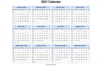 2021 calendar wallpaper blue