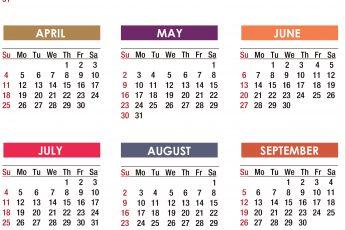 Calendar 2021 wallpaper