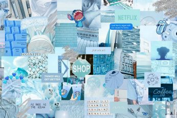 Blue aesthetic wallpaper